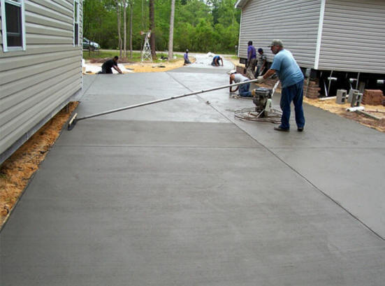 Atlanta ga concrete contractors we do it all overlay for How to pour a concrete driveway