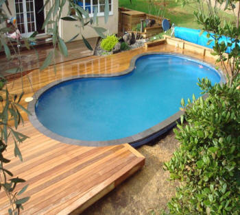 how to build a timber deck around a inground pool